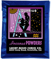 Lucky Mojo Curio Co.: Aquarius Incense Powder