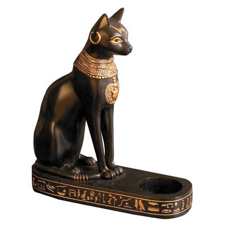 Eight-Inch-Bastet-Black-Cat-Sitting-Holds-Candle-or-Tea-Lite-at-Lucky-Mojo-Curio-Company