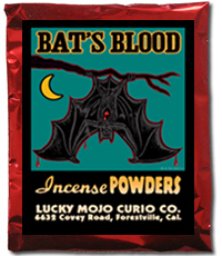 Lucky Mojo Curio Co.: Bat's Blood Incense Powders