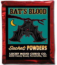 Lucky Mojo Curio Co.: Bat's Blood Sachet Powder