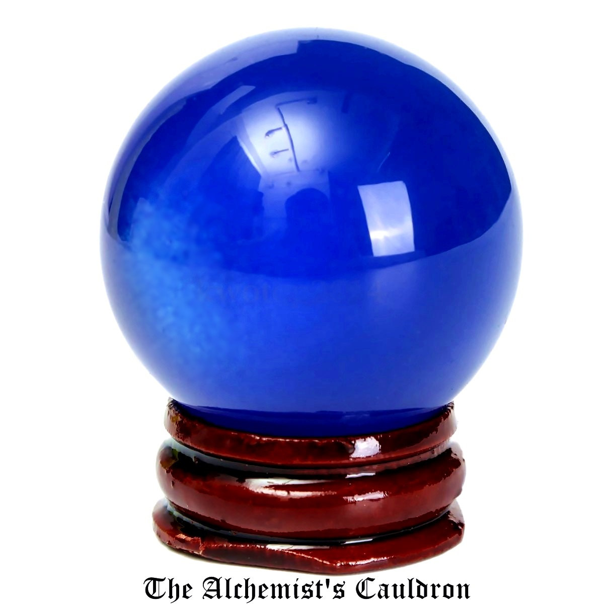 Crystal-Ball-Two-Inch-Blue-Glass-With-Stand-and-Box-at-Lucky-Mojo-Curio-Company