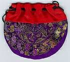 Nepal-Silk-Brocade-Double-Drawstring-Bag-at-Lucky-Mojo-Curio-Company