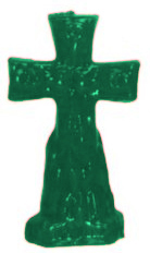 Crucifix-Cross-and-Keys-Figural-Candle-Green-at-the-Lucky-Mojo-Curio-Company-in-Forestville-California