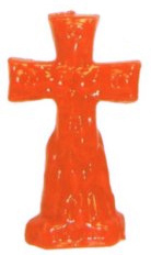 Crucifix-Cross-and-Keys-Figural-Candle-Orange-at-the-Lucky-Mojo-Curio-Company-in-Forestville-California