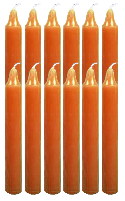 6-Inch-Black-Cat-Brand-Offertory-Candles-Dozen-Orange-at-the-Lucky-Mojo-Curio-Company-in-Forestville-California
