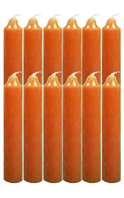 9-Inch-Black-Cat-Brand-Jumbo-Candles-Dozen-Orange-at-the-Lucky-Mojo-Curio-Company-in-Forestville-California