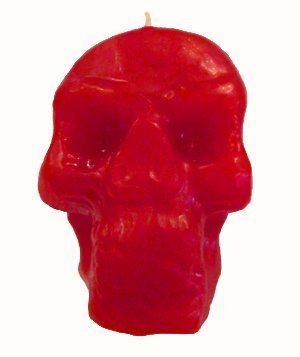 Skull-Candle-Red-at-the-Lucky-Mojo-Curio-Company-in-Forestville-California