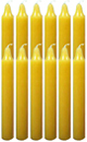 6-Inch-Black-Cat-Brand-Offertory-Candles-Dozen-Yellow-Product-Detail-Button-at-the-Lucky-Mojo-Curio-Company-in-Forestville-California