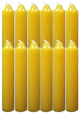 9-Inch-Black-Cat-Brand-Jumbo-Candles-Dozen-Yellow-at-the-Lucky-Mojo-Curio-Company-in-Forestville-California