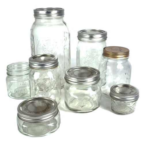 Canning Jars of Varied Sizes