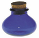Cobalt-Light-Blue-Glass-Bean-Shape-Bottle-with-Cork-3-Inch-by-3-Inch