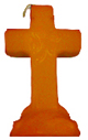 Cross-4-Leaf-Clover-Candle-Orange-Product-Detail-Button-at-the-Lucky-Mojo-Curio-Company-in-Forestville-California