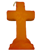 Cross-4-Leaf-Clover-Candle-Orange-at-the-Lucky-Mojo-Curio-Company-in-Forestville-California