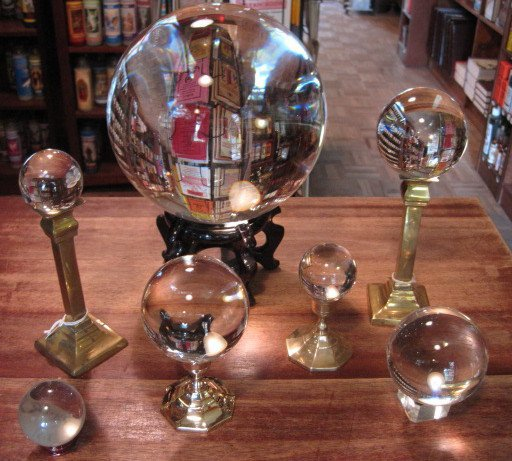 Crystal-Balls-and-Stands-at-Lucky-Mojo-Curio-Company-in-Forestville-California