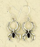 Earrings-Black-Spider-Silver-at-Lucky-Mojo-Curio-Company