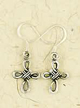 Earrings-Cross-Silver-at-Lucky-Mojo-Curio-Company