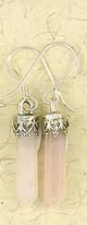 Earrings-Crystal-Point-Rose-Quartz-Silver-at-Lucky-Mojo-Curio-Company