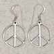 Earrings-Peace-Sign-Silver-at-Lucky-Mojo-Curio-Company
