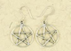 Earrings-Pentacle-in-Open-Circle-Silver-at-Lucky-Mojo-Curio-Company