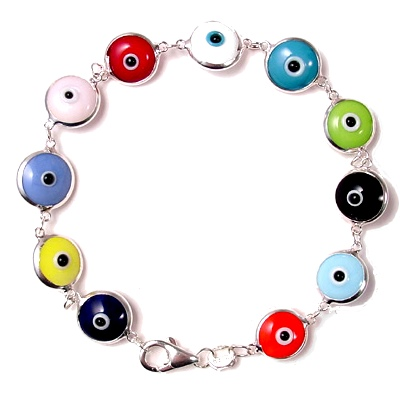Multi-Colour-Anti-Evil-Eye-Bracelet-Sterling-Glass-at-the-Lucky-Mojo-Curio-Company