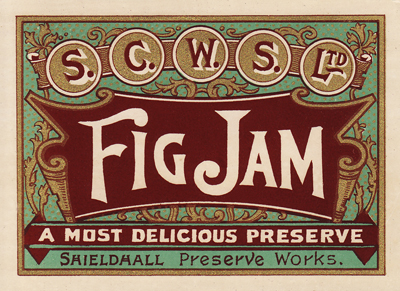Antique Fig Jam Preserves Label