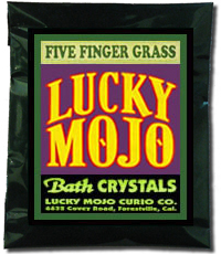 Lucky Mojo Curio Co.: Five Finger Grass Bath Crystals