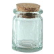 Pale-Green-Glass-Round-Cream-Cup-Bottle-with-Cork-2-Inch-by-1-and-Three-Quarters-Inch