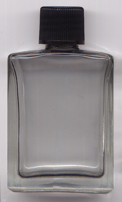 Rectangular-Half-Ounce-Bottle-Flint-Glass-with-Black-Cap-at-Lucky-Mojo-Curio-Company