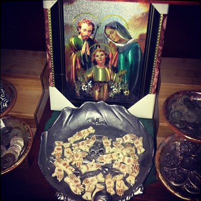 Amulet-Shelf-and-Holy-Family-Portrait-at-the-Lucky-Mojo-Curio-Company