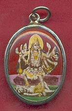 Hindu-Ceramic-Oval-Pendant-Durga-at-the-Lucky-Mojo-Curio-Company