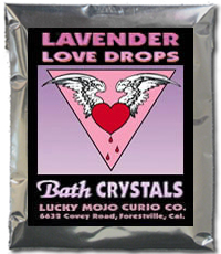 Lucky Mojo Curio Co.: Lavender Love Drops Bath Crystals