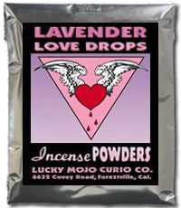 Lucky Mojo Curio Co.: Lavender Love Drops Incense Powder