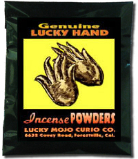 Lucky Mojo Curio Co.: Lucky Hand Incense Powder