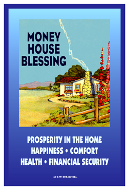 Lucky Mojo Curio Co.: Money House Blessing Glass Encased Vigil Light Candle