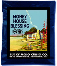 Lucky Mojo Curio Co.: Money House Blessing Incense Powder