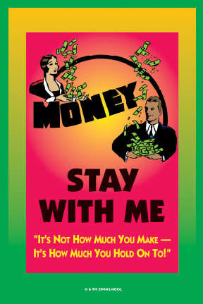 Lucky Mojo Curio Co.: Money Stay With Me Glass Encased Vigil Light Candle