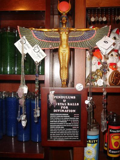 Pendulum-Display-at-the-Lucky-Mojo-Curio-Company