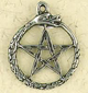 Pewter-Oroborus-Pentacle-Amulet-at-The-Lucky-Mojo-Curio-Company