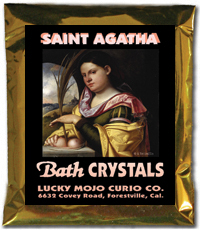 Lucky Mojo Curio Co.: Saint Agatha Bath Crystals