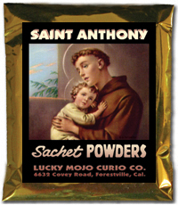 Lucky Mojo Curio Co.: Saint Anthony Sachet Powders