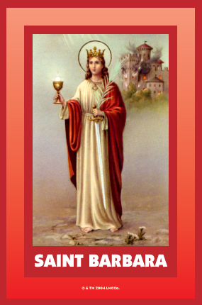 Saint-Barbara-novena-candle-label-by-Lucky-Mojo-Curio-Company