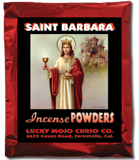 Lucky Mojo Curio Co.: Saint Barbara (Santa Barbara) Incense Powders