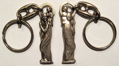 Catholic-Pewter-Key-Ring-Saint-Christopher-Figural-at-the-Lucky-Mojo-Curio-Company