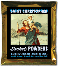 Lucky Mojo Curio Co.: Saint Christopher Sachet Powders
