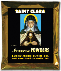 Lucky Mojo Curio Co.: Saint Clara (Santa Clara) Incense Powders