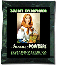 Saint-Dymphna-Incense-Powders-at-Lucky-Mojo-Curio-Company