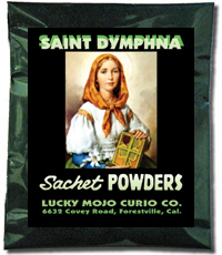 Saint-Dymphna-Sachet-Powders-at-Lucky-Mojo-Curio-Company