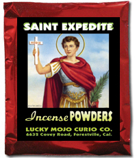 Lucky-Mojo-Curio-Co.-Saint-Expedite-Magic-Ritual-Hoodoo-Catholic-Rootwork-Conjure-Incense-Powder