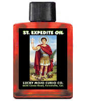 Saint-Expedite-Oil-at-Lucky-Mojo-Curio-Company