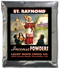 Saint-Raymond-Incense-Powders-at-Lucky-Mojo-Curio-Company